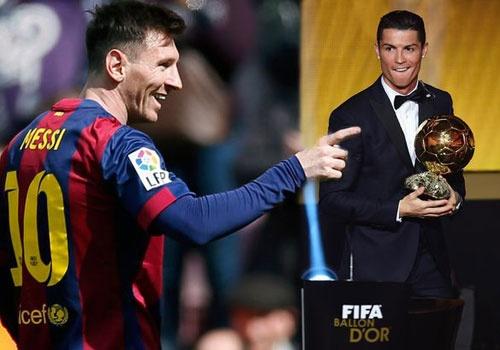 Messi tuc gian vi Ronaldo co loi the gianh Qua bong vang hinh anh