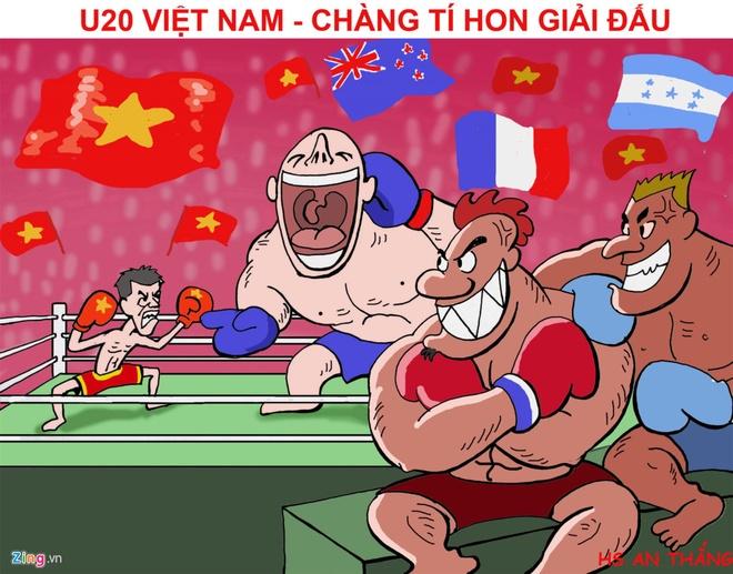 Canh sat va xe chong bao dong bao ve tran dau cua U20 Viet Nam hinh anh 6