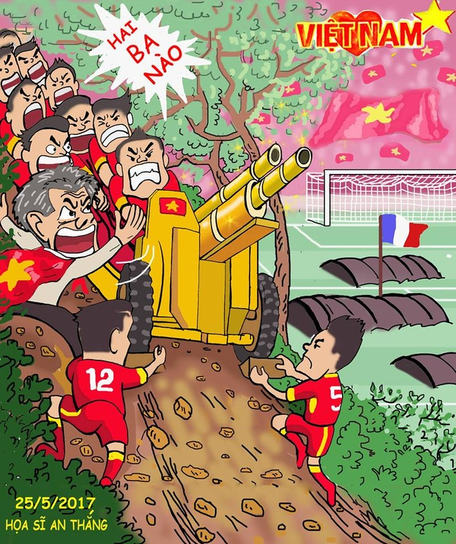 U20 Viet Nam 0-4 U20 Phap: Dinh Trong nhan the do hinh anh 15