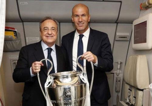 Chu tich Perez va HLV Zidane co the de Ronaldo roi Real hinh anh