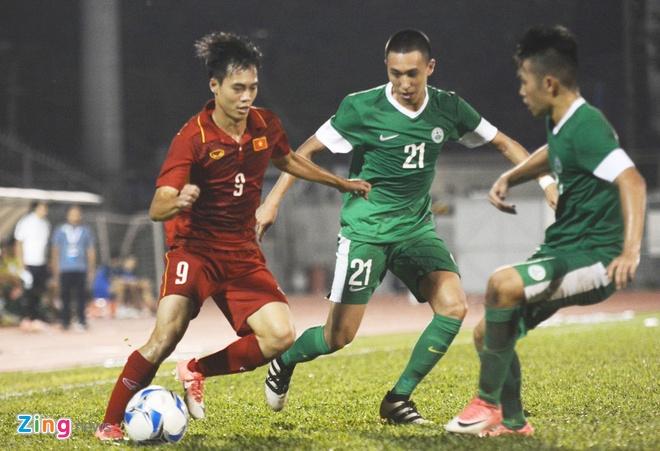 U22 VN 8-1 U22 Macau: Xuan Truong tro lai an tuong hinh anh 1
