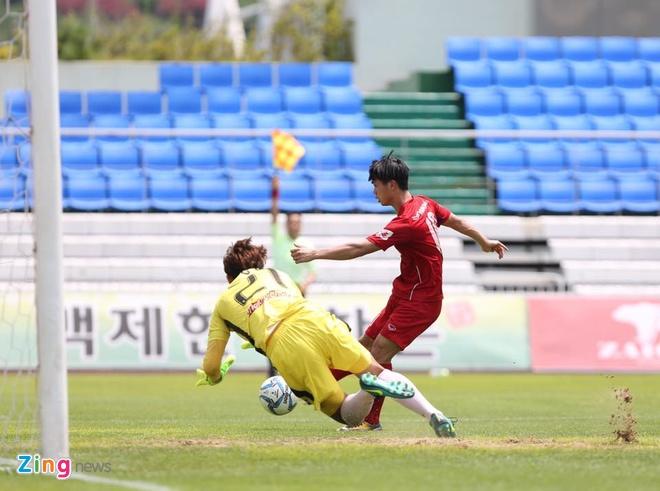 Mokpo vs U22 VN (1-4): Hong Duy, Duc Chinh lap cu dup hinh anh 21