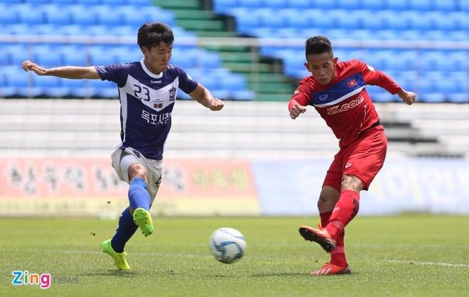 Mokpo vs U22 VN (1-4): Hong Duy, Duc Chinh lap cu dup hinh anh 22