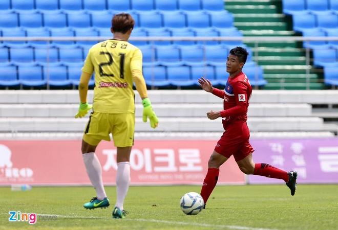 Mokpo vs U22 VN (1-4): Hong Duy, Duc Chinh lap cu dup hinh anh 23