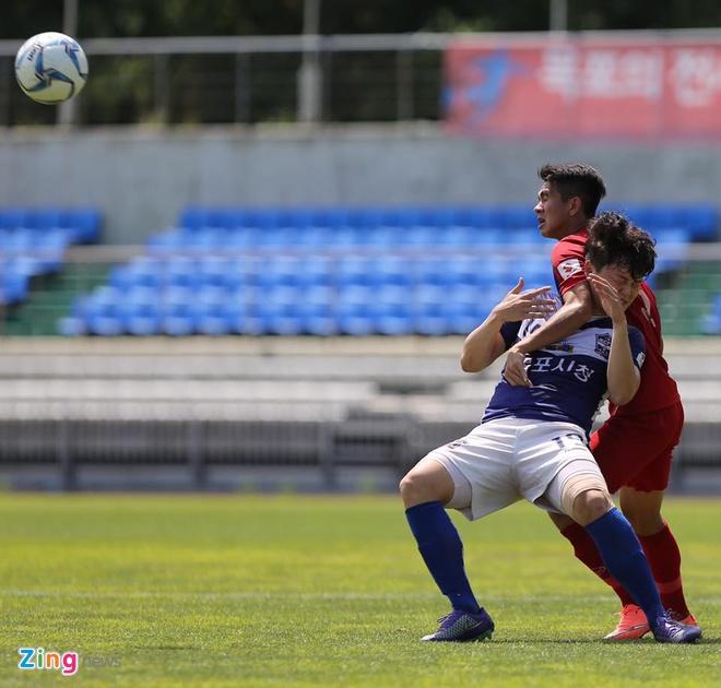 Mokpo vs U22 VN (1-4): Hong Duy, Duc Chinh lap cu dup hinh anh 14