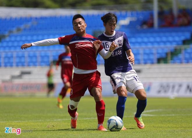 Mokpo vs U22 VN (1-4): Hong Duy, Duc Chinh lap cu dup hinh anh 16
