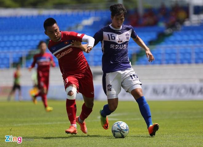 Mokpo vs U22 VN (1-4): Hong Duy, Duc Chinh lap cu dup hinh anh 19