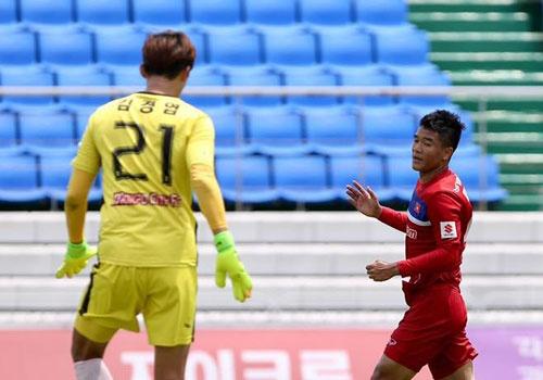 Mokpo vs U22 VN (1-4): Hong Duy, Duc Chinh lap cu dup hinh anh