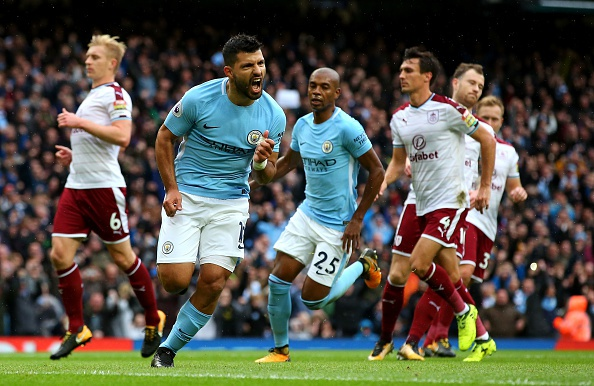 Man City vs Burnley (3-0): Aguero lap ky luc ghi ban hinh anh 1