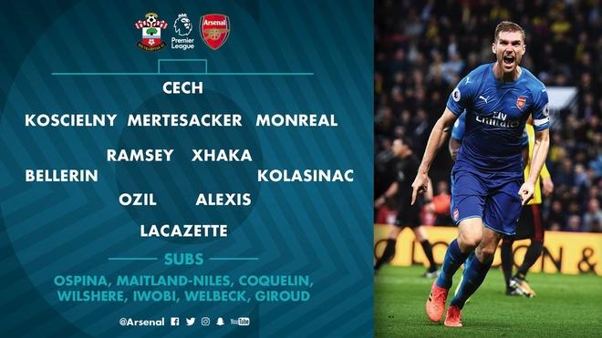 Southampton vs Arsenal (1-1): Giroud danh dau cuu 'Phao thu' hinh anh 11
