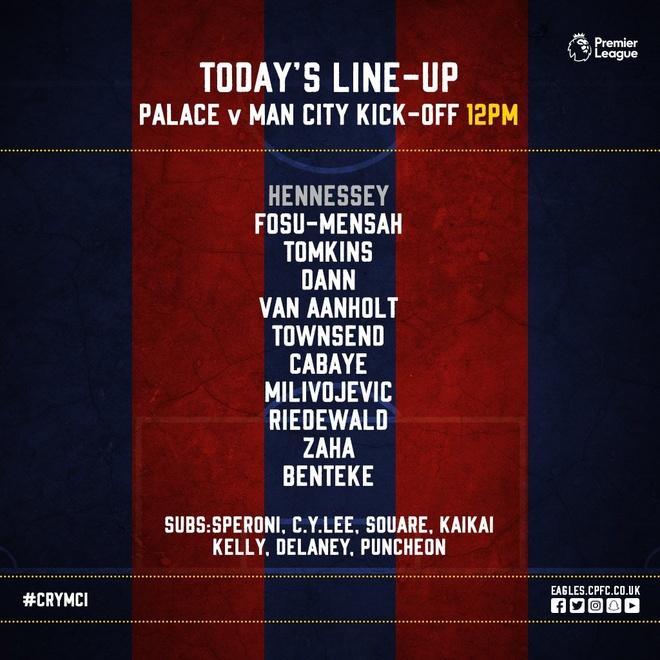 Crystal Palace 0-0 Man City: Doi cua Guardiola thoat thua o phut 90+2 hinh anh 9