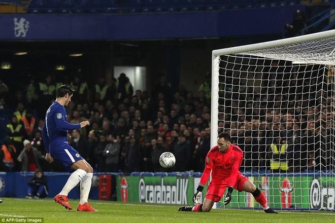 Arsenal hoa Chelsea nho thu mon Ospina va cot doc hinh anh 4