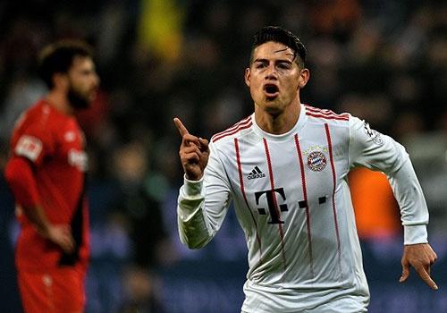 James Rodriguez kien tao va ghi ban, Bayern thang Leverkusen 3-1 hinh anh