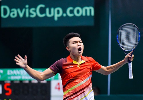 DT Viet Nam thang hang, Davis Cup nhom III thanh cong ruc ro hinh anh
