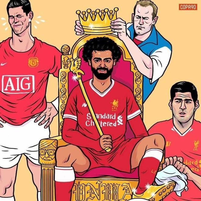 Hi hoa Ronaldo khoc vi Salah lam vua o Premier League hinh anh 1