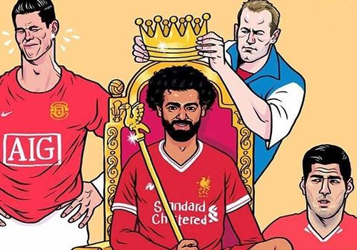 Hi hoa Ronaldo khoc vi Salah lam vua o Premier League hinh anh