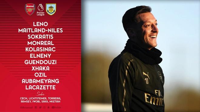 'Song tau' Oezil - Aubameyang toa sang, Arsenal tro lai mach thang hinh anh 3