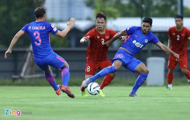 U22 Viet Nam vs CLB Kitchee (2-0): Martin Lo, Tran Danh Trung ghi ban hinh anh 5