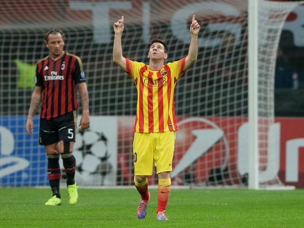 Messi no sung, Barca gianh 1 diem tu tay Milan hinh anh