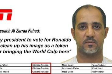 HLV Qatar bi ep binh chon QBV cho Ronaldo hinh anh