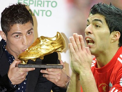 Ronaldo quyet khong chia se Giay vang voi Suarez hinh anh