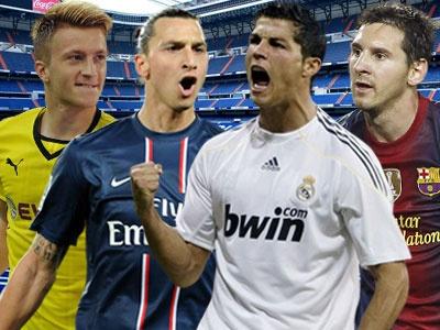Ronaldo, Messi sat canh o doi hinh xuat sac nhat chau Au hinh anh