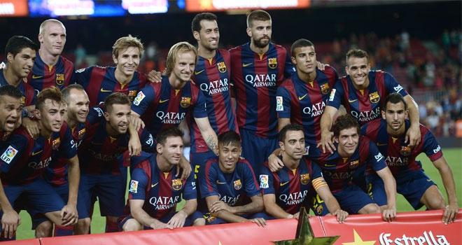 Barcelona một trong những CLB được yêu thích nhất thế giới hiện nay. Đội chủ sân Nou Camp từng 22 lần vô địch La Liga, 4 lần giành Champions League và 26 lần giành Cúp nhà Vua. Sự xuất hiện của Neymar, Luis Suarez bên cạnh Messi khiến đội hình của gã khổng lồ xứ Catalunya độc chiếm ngôi vị số 1 với giá trị khoảng 520 triệu bảng (<abbr class=