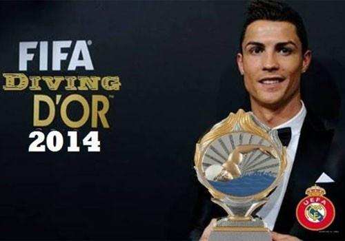 Ronaldo doat giai Qua bong dong an va 2014 hinh anh