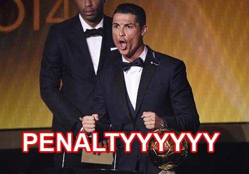 Anh vui Ronaldo bi am anh penalty khi nhan Qua bong vang hinh anh