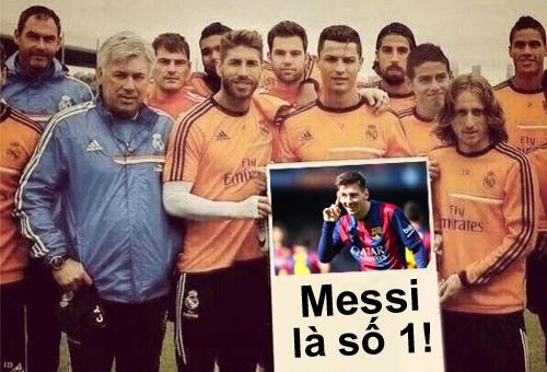 Anh che dan sao Real khen Messi hay nhat the gioi hinh anh