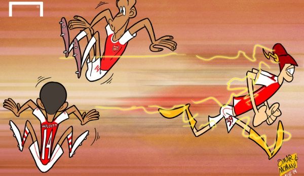 Cau thu Arsenal chay nhanh hon Usain Bolt hinh anh 1
