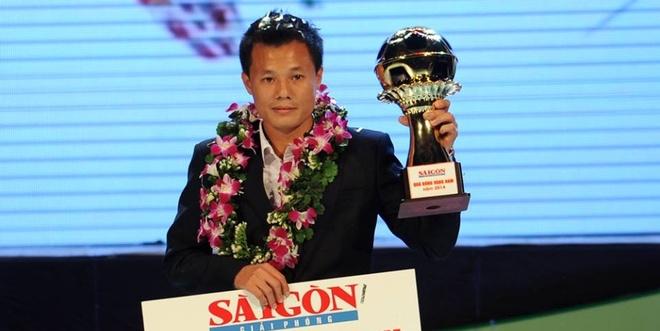 Thanh Luong gianh Qua bong vang Viet Nam 2014 hinh anh