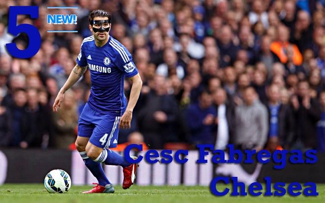 """10 tien ve hay nhat Ngoai hang Anh thang 4 hinh anh 6 5. Cesc Fabregas (Chelsea): Đóng góp của F4 cho Chelsea không còn là những pha kiến tạo hay ghi bàn. Sự xuất hiện của anh ở hàng tiền vệ giúp lối chơi của """"Lữ đoàn xanh"""" cân đối cả trong tấn công lẫn phòng ngự. Ảnh: Rex."""