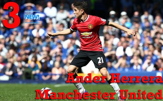 10 tien ve hay nhat Ngoai hang Anh thang 4 hinh anh 8 3. Ander Herrera (Manchester United): Tiền vệ người Tây Ban Nha có mùa giải đầu tiên thành công tại sân Old Trafford. Thành tích của Herrera trong tháng 4 rất ấn tượng: 2 bàn thắng, 15 tình huống đánh chặn, 16 cú tắc bóng và 387 đường chuyền với tỉ lệ chính xác 96%. Ảnh: Rex.