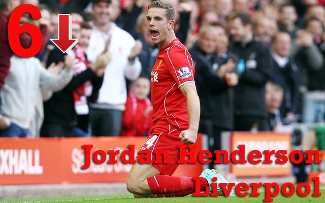 10 tien ve hay nhat Ngoai hang Anh thang 4 hinh anh 5 6. Jordan Henderson (Liverpool): Tháng vừa qua, tiền vệ người Anh ghi 1 bàn và tạo ra 10 cơ hội cho đồng đội ghi bàn. Cầu thủ 25 tuổi là sự thay thế xứng đáng cho đội trưởng Steven Gerrard, người sẽ ra đi vào cuối mùa. Ảnh: Rex.