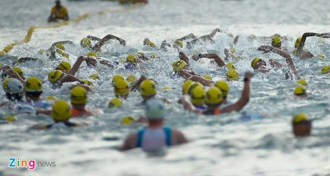 VNG Ironman 70.3: Nhieu VDV Viet Nam ve dich hinh anh 4
