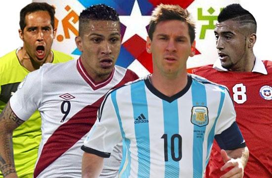Messi dan dau doi hinh tieu bieu Copa America hinh anh