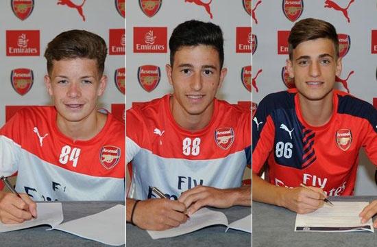 Arsenal cong bo 11 tai nang tre vua gia nhap CLB hinh anh
