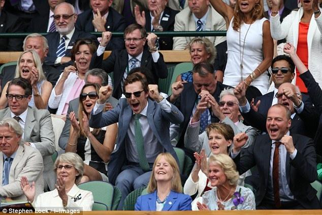 Cam xuc cua sao noi tieng khi du chung ket Wimbledon hinh anh 8