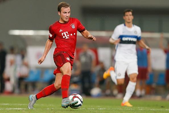 Mario Goetze tap vo khi du dau cung Bayern hinh anh 8