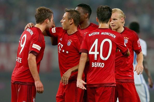 Mario Goetze tap vo khi du dau cung Bayern hinh anh 9