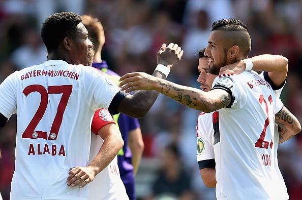 Vidal lap cong, Bayern thang 3-1 tai Cup quoc gia Duc hinh anh
