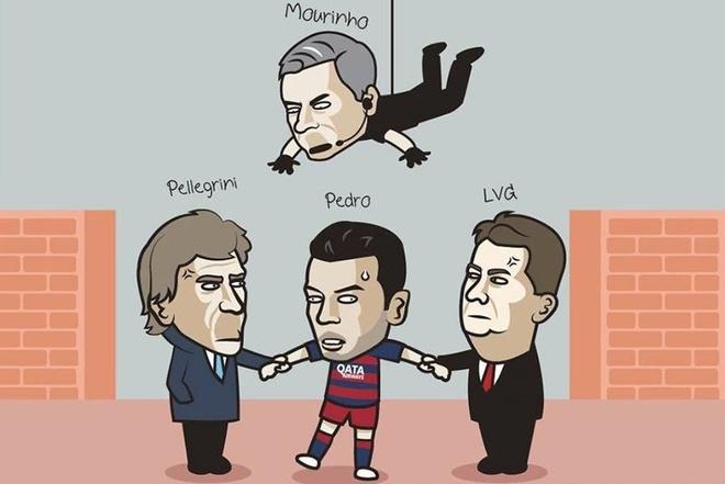 Anh vui Mourinho cuop Pedro khoi tay M.U hinh anh