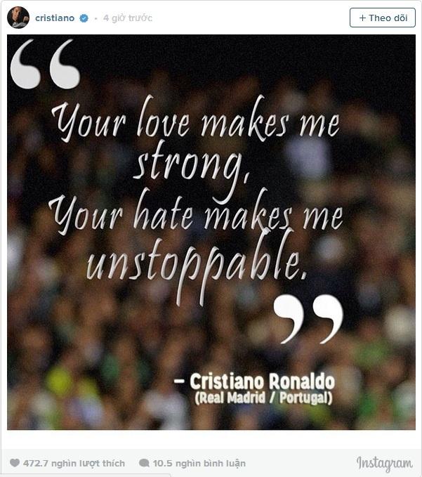 Ronaldo gui thong diep toi anti-fan sau tran hoa Gijon hinh anh 1
