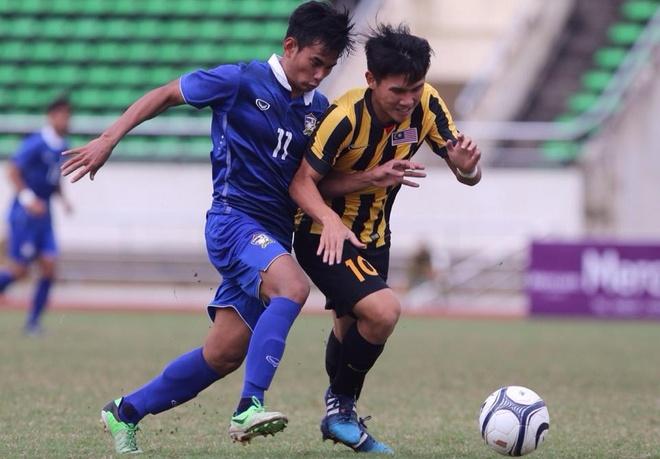 Thang Malaysia 5-0, U19 Thai Lan vao chung ket hinh anh