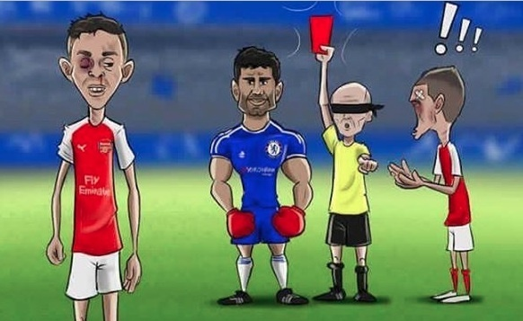 Anh vui vo si Diego Costa giup Chelsea chien thang hinh anh 1