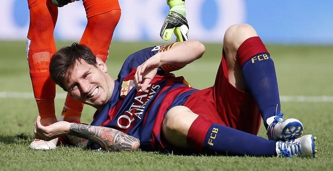 Messi co the tro lai som hon du kien, kip du El Clasico hinh anh