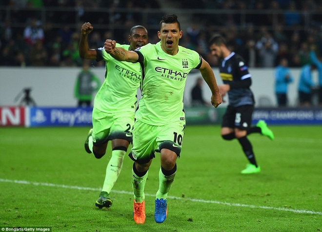 Aguero ghi ban phut 90, Man City thang tran dau tai Cup C1 hinh anh