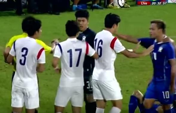 U19 Han Quoc lien tuc danh nguoi trong tran gap Thai Lan hinh anh