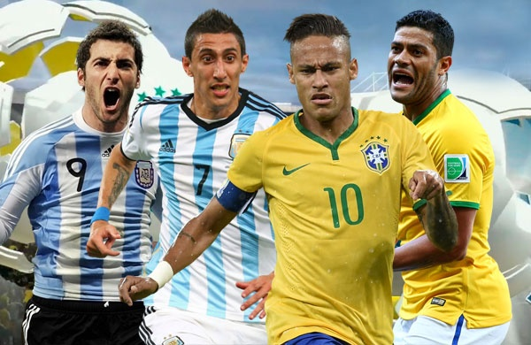 Doi hinh ket hop giua Argentina va Brazil hinh anh